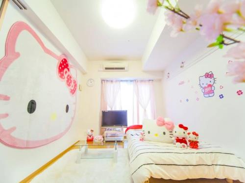1 bedroom Apartment with Kitty central in Shinsaibashi area